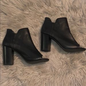 Madden Girl peep toed booties